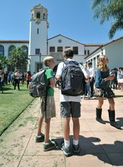 First day back at school for Santa Barbara Junior High students