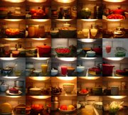 Kyung Duk Kim, Refrigerator, 2008, from the Everyday Life Project (1998–2008). Chromogenic photograph. Courtesy of the artist. From SBMA's current exhibition <em>Chaotic Harmony</em>.
