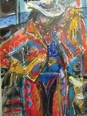 Nancy Hodge focuses on cowgirls in all their glitzy, fringe-bedecked splendor.