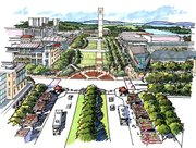 Rendering of Tower Mall.