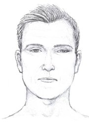 Artist's sketch of the Refugio Road shooting suspect