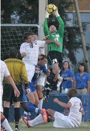 UCSB goalkeeper Sam Hayden (#24)