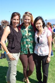 Event organizers Elisa Phipps Soth (trip group '89), Sara Wilcox ('89) and Tiffany Tran-Overbo ('94)