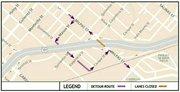 Milpas detour map
