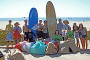 East Beach where 212 volunteers, including some from Surf Rider, collected 335 pounds of debris. The cleanup was hosted by the Natural History Museum's Ty Warner Sea Center and the Chumash Maritime Association.