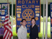 Rotarians mentioned as '40 Under 40': Darren Doi and Dana Goba (Werhane unavailable for photo)
