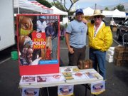 David Velarde and Bob McPhillips, both members of the Rotary Club of Santa Barbara Sunrise.