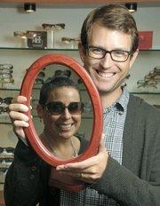 Occhiali's Loren Toscher, manager, and Yvonne Blanco (in mirror).