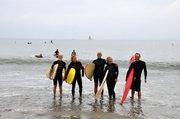 L to R: Deane Plaister, Jane Kelley, Mark Palley (Santa Barbara Surfirder chairman), Janet Koed, Mark Morey