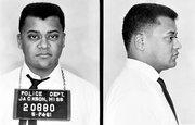Mug shot of James Lawson taken after he was arrested for a nonviolent demonstration.