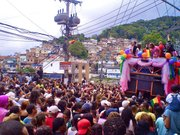 Late in the afternoon the parade winded down Rocinha's main street Estrada de Gávea to the bottom of the hill near the entrance to the community.