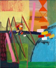 """Daniela Campins'  """"Staged Bows and Arrows""""."""