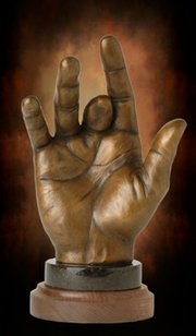 Sculpture of Jerry Garcia's hand at the Santa Barbara Bowl