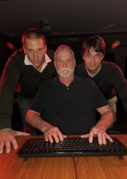 UCSB's Computer Security Group is led by from left, Giovanni Vigna, Richard Kemmerer, and Christopher Kruegel.