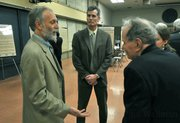 Marc Chytilo (left) at last week's public forum put on by Caltrans