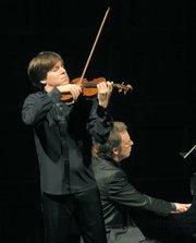Joshua Bell and pianist Sam Haywood at the Granada Theatre.