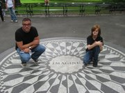 <strong>43 YEARS LATER:</strong> Jeff Wing and his son in New York City's Central Park.