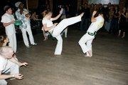 Contra Maestro Mariano Silva's Capoeira Batuque Santa Barbara, the local capoeira club.