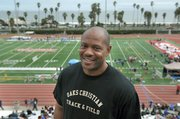 Maurice Greene, the former world record holder in the 100-meter dash, was in the house Saturday