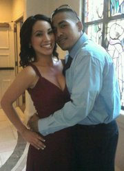 Vincent Velasquez with his girlfriend, Vanessa Solis