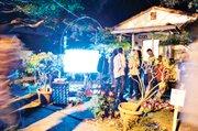 "A screening of Jennifer West's ""Dawn Surf Jellybowl"" in Carpinteria."