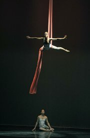La Petite Chouette's adult company displayed awesome feats of aerial dance while suspended by fabric.