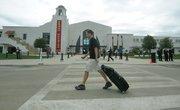 A traveler walks by the Santa Barbara Airport remodel grand opening  June 17, 2011