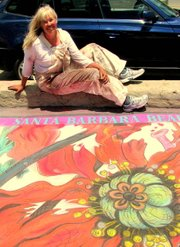 Diane Stevenett at this year's iModonnari chalk festival