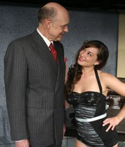 Tom Hinshaw and Heather Johnson in SBCC Theatre Group's production of <em>The Solid Gold Cadillac</em>.
