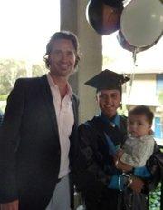 Rotarian Graham Guess & Abraham Ruiz with son