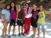 "According to Elizabeth Santos (fourth from left), a 12-year old camper this summer from Santa Ynez attending Circle V Ranch Camp for the third time, said her favorite things were, ""Making new friends with other girls in her outfit (pictured), doing skits around the fire pit and the delicious food every day. Every parent should send their kids to Circle V!"""