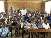 Teaching awareness at Nyamuga School.