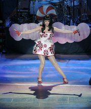 S.B. pop tart Katy Perry strikes a pose on night one of her weekend-long stint at the Bowl.