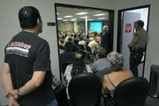 Overflow crowd at the Goleta City Council meeting discussing the Bishop Ranch Aug. 18, 2011