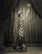 Betty Williams as Columbia in the Mystic Ball, New Orleans, 1941.