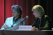 Representative Lois Capps (right) and 3rd District Supervisor Doreen Farr