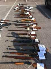 Guns seized during the Vagos raids