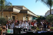 Dozens of kids gathered at La Cumbre Plaza on October 11 to get healthy by setting a world record for jumping jacks.