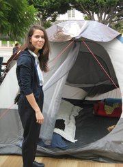 Leigh Connor, Occupy Los Angeles, October 24, 2011