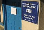 The front of Dr. Julio Diaz's Milpas Street clinic