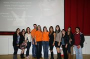 BDHS Parent Board and student representatives with the Brown family