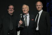 Christopher Plummer with Pete Hammond (left) and Mike Mills at SBIFF 2012