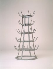 """Marcel Duchamp changed art history with such """"readymades"""" as """"Bottle Rack,"""" a 1963 replica of the 1914 original."""