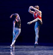 "Anna Carnes (left) and Nathan Cottam in Carrie Diamond's ""Haringduet II."""