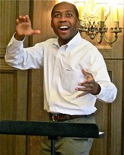 Composer Rollo Dilworth journeyed to Santa Barbara to conduct a workshop with the Choral Society in preparation for their performance of his <em>Rain Sequence</em>.