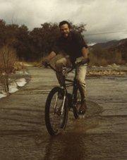 James McLean crossing the Santa Ynez River