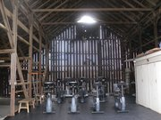 The new barn at Recovery Ranch.