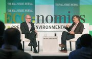 Alan Murray (left) interviews Bill Gates at The Wall Street Journal's ECO:nomics conference Mar. 22, 2012