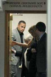 Koa Misi leaves Santa Barbara Superior Court after posting bail (April 20, 2012)