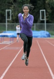 Bishop Diego sprinter Nicole Poindexter was the top speedster at the S.B. County Championships.